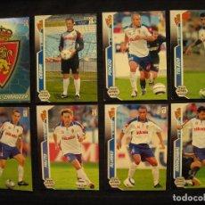 Cromos de Fútbol: LOTE 8 CROMOS - MEGA CRACKS 2005/06 - PANINI - REAL ZARAGOZA.. Lote 104344783