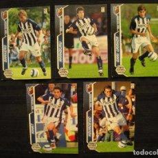 Cromos de Fútbol: LOTE 5 CROMOS - MEGA CRACKS 2005/06 - PANINI - REAL SOCIEDAD.. Lote 104346783