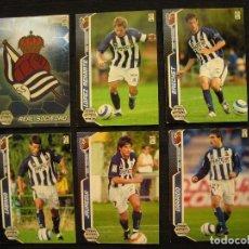 Cromos de Fútbol: LOTE 6 CROMOS - MEGA CRACKS 2005/06 - PANINI - REAL SOCIEDAD.. Lote 104347419