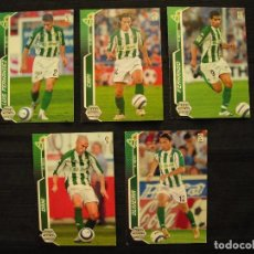 Cromos de Fútbol: LOTE 5 CROMOS - MEGA CRACKS 2005/06 - PANINI - R. BETIS.. Lote 104383215