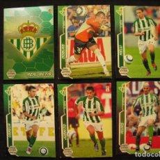 Cromos de Fútbol: LOTE 6 CROMOS - MEGA CRACKS 2005/06 - PANINI - R. BETIS.. Lote 104383963
