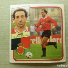 Cromos de Fútbol: CROMO - FUTBOL - AMER - MALLORCA - EDICIONES ESTE - LIGA 89-90 - 1989-1990 - NUNCA PEGADO. Lote 104484499
