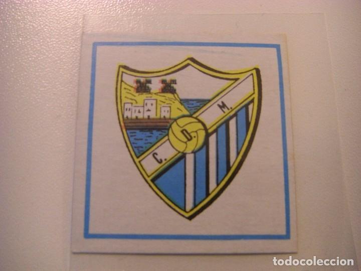 ESCUDO MALAGA, CARTON CROPAN CROMOS CANO FUTBOL 83 84 CROMO NUEVO SIN PEGAR NO ESTE ALBUM (Coleccionismo Deportivo - Álbumes y Cromos de Deportes - Cromos de Fútbol)