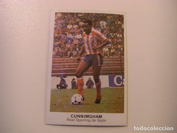FICHAJE Nº32 CUNNIMGHAM GIJON CROPAN CROMOS CANO FUTBOL 83 84 DIFICIL CROMO SIN PEGAR NO ESTE (Coleccionismo Deportivo - Álbumes y Cromos de Deportes - Cromos de Fútbol)