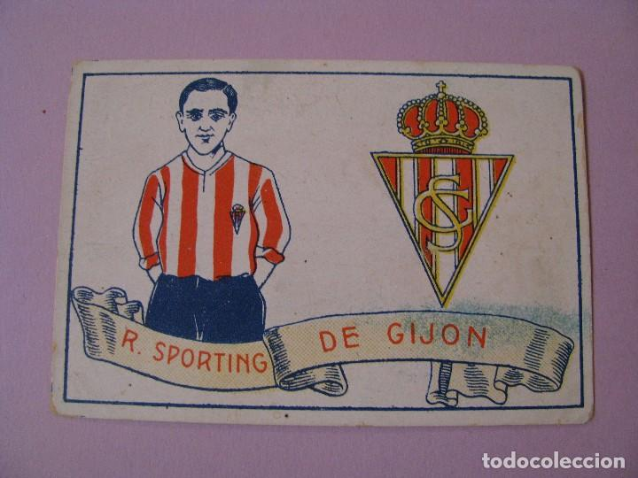 CROMO FUTBOL CHOCOLATES AMATLLER. 1929. Nº 15. R. SPORTING DE GIJON. (Coleccionismo Deportivo - Álbumes y Cromos de Deportes - Cromos de Fútbol)