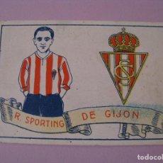 Cromos de Fútbol: CROMO FUTBOL CHOCOLATES AMATLLER. 1929. Nº 15. R. SPORTING DE GIJON.. Lote 104551291