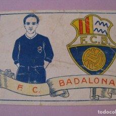 Cromos de Fútbol: CROMO FUTBOL CHOCOLATES AMATLLER. 1929. Nº 18. F. C. BADALONA.. Lote 104551335