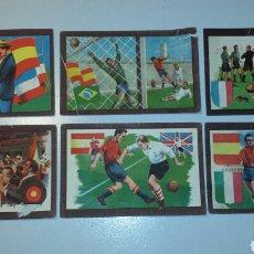 Cromos de Fútbol: ANTIGUOS CROMOS CHOCOLATES TUPINAMBA FUTBOL PARTIDOS INTERNACIONALES. Lote 104917134