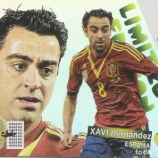 Cromos de Fútbol: ADRENALYN XL BRASIL FIFA WORLD CUP- XAVI ESPAÑA - LIMITED EDITION. Lote 194731708