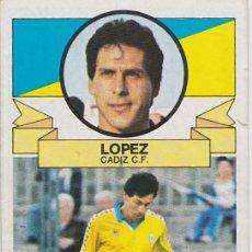 Cromos de Fútbol: 9562- CROMO NUEVO LIGA ESTE 85-86 LOPEZ (CÁDIZ) BAJA. Lote 105454395