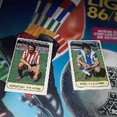 Cromos de Fútbol: BENGOECHEA Y PAVON FICHAJES DE LA LIGA 1978-79 DE ESTE ,SIN PEGAR. Lote 105651851
