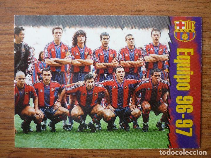 Fc Barcelona 96 97 Cards Panini Nº 9 Equipo Ali Kaufen Alte