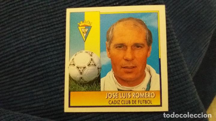92/93 ESTE. NUNCA PEGADO COLOCA CÁDIZ JOSÉ LUIS ROMERO PUNTAS RECTAS (Coleccionismo Deportivo - Álbumes y Cromos de Deportes - Cromos de Fútbol)