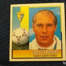 Cromos de Fútbol: 92/93 ESTE. NUNCA PEGADO COLOCA CÁDIZ JOSÉ LUIS ROMERO PUNTAS RECTAS. Lote 106014339