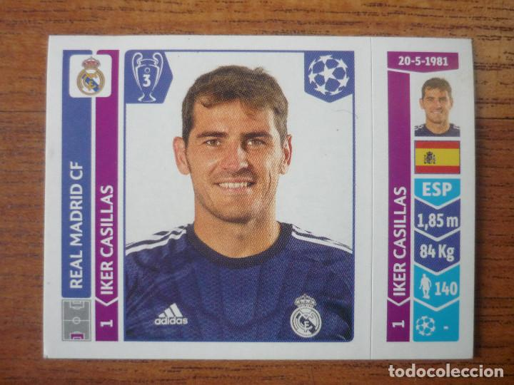 4e1237639 UEFA CHAMPIONS LEAGUE STICKER PANINI 2014 2015 Nº 109 IKER CASILLAS (REAL  MADRID) -