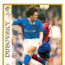 Cromos de Fútbol: 355 DUBOVSKY - REAL OVIEDO - CORREGIDO - MUNDICROMO MC - FICHAS LIGA 1997 1998 97 98. Lote 221767301