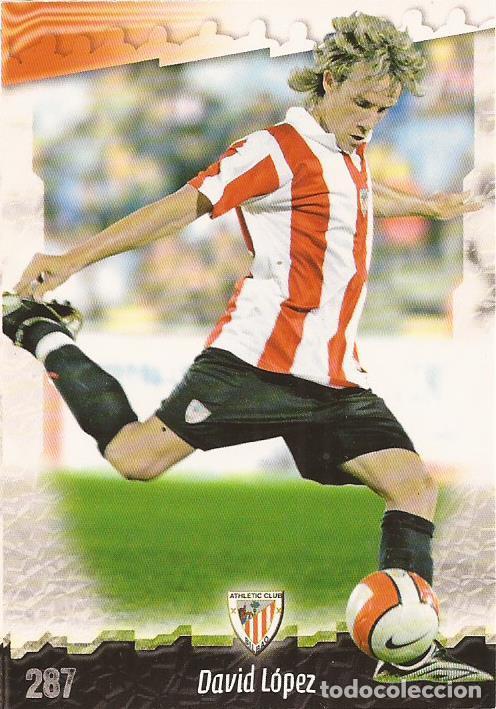 2008-2009 - 287 DAVID LOPEZ - ATHLETIC DE BILBAO - MUNDICROMO LAS FICHAS DE LA LIGA (Coleccionismo Deportivo - Álbumes y Cromos de Deportes - Cromos de Fútbol)