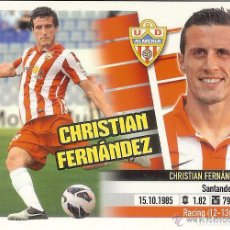 Cromos de Fútbol: 7 A CHRISTIAN FERNANDEZ ALMERIA ESTE 13/14. Lote 107911475