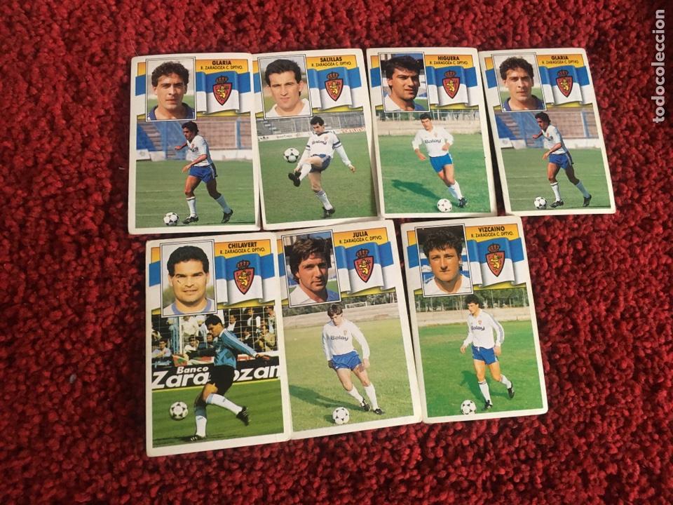 GLARIA 1990 1991 ESTE 90 91 ZARAGOZA SIN PEGAR (Coleccionismo Deportivo - Álbumes y Cromos de Deportes - Cromos de Fútbol)
