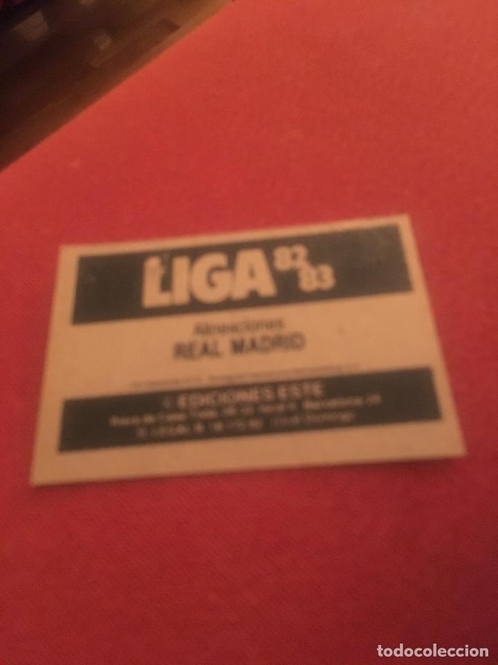 ALINEACIÓN REAL MADRID 82 83 ESTE 82 83 (Coleccionismo Deportivo - Álbumes y Cromos de Deportes - Cromos de Fútbol)
