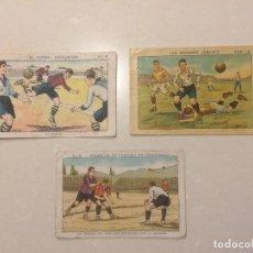 Cromos de Fútbol: CROMOS - EL FUTBOL ASOCIACION - FASES DE UN PARTIDO DE FOOT-BALL - LAS GRANDES JUGADAS. Lote 108362695