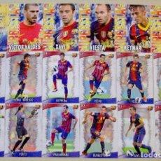 Figurine di Calcio: LOTE 18 FICHAS DISTINTAS FC BARCELONA MUNDICROMO 2013 2014 13 14. Lote 113395578