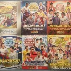 Cromos de Fútbol: MEGACRACKS PANINI MGK SET MEGACHECKLIST 04 05 06 07 08 09. Lote 108968671