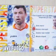 Figurine di Calcio: 133 JAVI FUEGO SUPERSTAR MATE VALENCIA CF MUNDICROMO 2013 2014 13 14. Lote 109084939