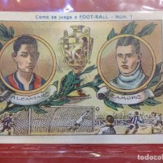 Cromos de Fútbol: COMO SE JUEGA A FOOT-BALL. COLECCIÓN COMPLETA DE 25 CROMOS. CHOCOLATES JUNCOSA: MBE. Lote 109541319