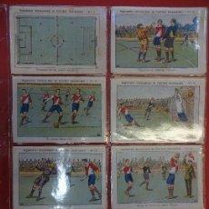 Cromos de Fútbol: REGLAMENTO INT. DE FOOT-BALL ASOCIACION. COL. DE 20 CROMOS COMPLETA. SIN PUBLICIAD. Lote 109544199