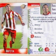 Cromos de Fútbol: 530 RAFITA UD ALMERIA MUNDICROMO 2013 2014 13 14.. Lote 109821447