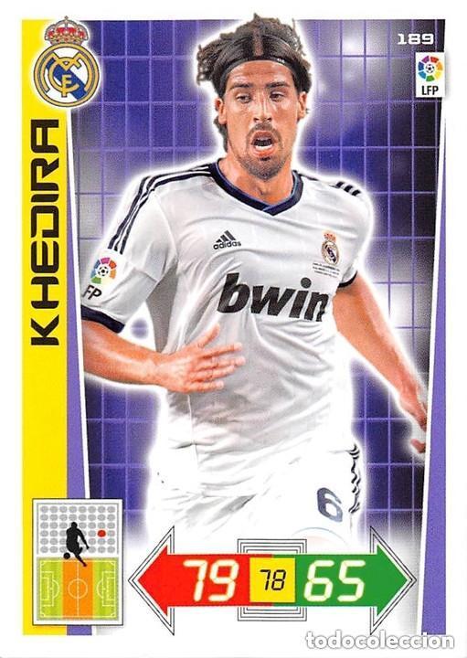 189 HHEDIRA REAL MADRID ADRENALYN 12/13 (Coleccionismo Deportivo - Álbumes y Cromos de Deportes - Cromos de Fútbol)