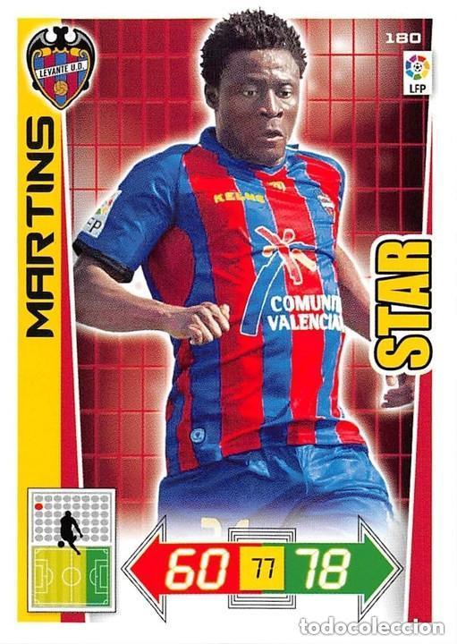 180 MARTINS LEVANTE STAR ADRENALYN 12/13 (Coleccionismo Deportivo - Álbumes y Cromos de Deportes - Cromos de Fútbol)
