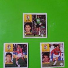 Cromos de Fútbol: LOTE DE 3 CROMOS DEL REAL BURGOS DE LA TEMPORADA 92/93 1992/1993 NUNCA PEGADOS. Lote 110003027