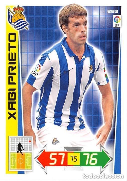 283 XABI PRIETO REAL SOCIEDAD ADRENALYN 12/13 (Coleccionismo Deportivo - Álbumes y Cromos de Deportes - Cromos de Fútbol)