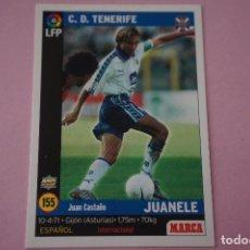 Cromos de Fútbol: CROMO CARD DE FÚTBOL:JUANELE DEL C.D.TENERIFE,Nº 155,LIGA MARCA 98-99. Lote 111339282