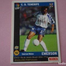 Cromos de Fútbol: CROMO CARD DE FÚTBOL:EMERSON DEL C.D.TENERIFE,Nº 152,LIGA MARCA 98-99. Lote 111339252