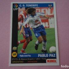Cromos de Fútbol: CROMO CARD DE FÚTBOL:PABLO PAZ DEL C.D.TENERIFE,Nº 149,LIGA MARCA 98-99. Lote 111339218