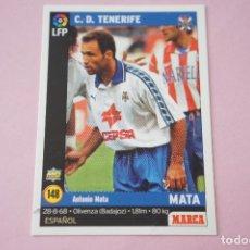 Cromos de Fútbol: CROMO CARD DE FÚTBOL:MATA DEL C.D.TENERIFE,Nº 148,LIGA MARCA 98-99. Lote 111339206