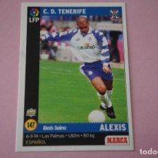 Cromos de Fútbol: CROMO CARD DE FÚTBOL:ALEXIS DEL C.D.TENERIFE,Nº 147,LIGA MARCA 98-99. Lote 111339196
