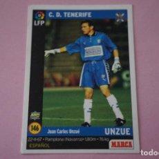 Cromos de Fútbol: CROMO CARD DE FÚTBOL:UNZUE DEL C.D.TENERIFE,Nº 146,LIGA MARCA 98-99. Lote 111339188