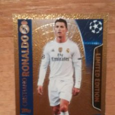 Cromos de Fútbol: CROMO UEFA CHAMPIONS LEAGUE TOPPS MATCH ATTAX CR7, CRISTIANO RONALDO (REAL MADRID), EDICIÓN LIMITADA. Lote 110262823