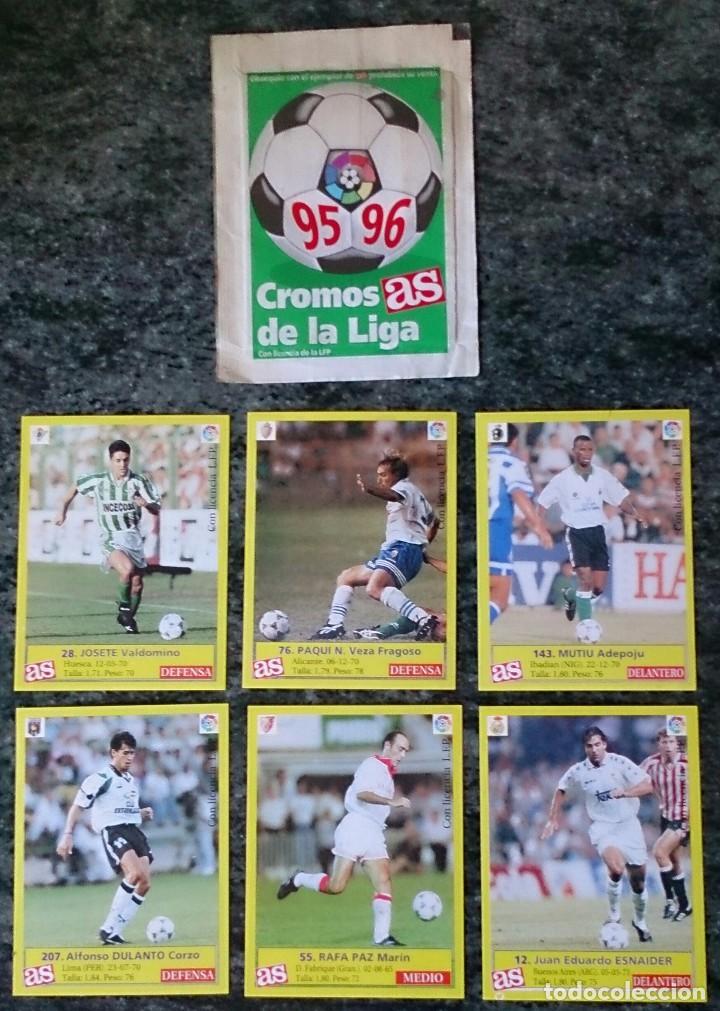 6 CROMOS DE LA LIGA FÚTBOL COLECCIÓN AS (Coleccionismo Deportivo - Álbumes y Cromos de Deportes - Cromos de Fútbol)