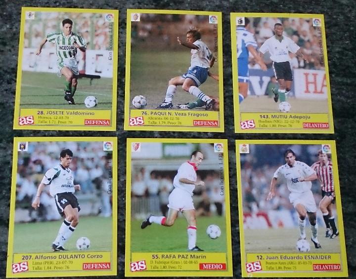 Cromos de Fútbol: 6 cromos de la Liga fútbol colección AS - Foto 2 - 110447219