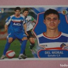 Cromos de Fútbol: CROMO DE FÚTBOL DEL MORAL DEL GETAFE C.F. SIN PEGAR LIGA ESTE 2008-2009/08-09. Lote 110454171