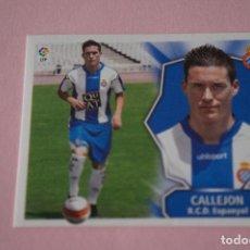 Cromos de Fútbol: CROMO DE FÚTBOL CALLEJON DEL R.C.D. ESPAÑOL-ESPANYOL SIN PEGAR LIGA ESTE 2008-2009/08-09. Lote 110536967