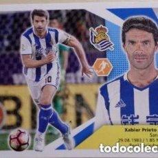 Cromos de Fútbol: 11 XABI PRIETO REAL SOCIEDAD ESTE 17/18. Lote 110766903