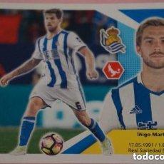 Cromos de Fútbol: 6 IÑIGO MARTINEZ REAL SOCIEDAD ESTE 17/18. Lote 110766919