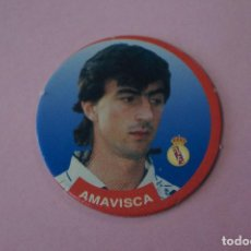 Cromos de Fútbol: TAZO DE FÚTBOL AMAVISCA DEL REAL MADRID C.F. Nº 65 LIGA DIARIO SPORT 94-95. Lote 110960787