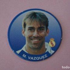 Cromos de Fútbol: TAZO DE FÚTBOL MARTIN VAZQUEZ DEL REAL MADRID C.F. Nº 98 LIGA DIARIO SPORT 94-95. Lote 110961027